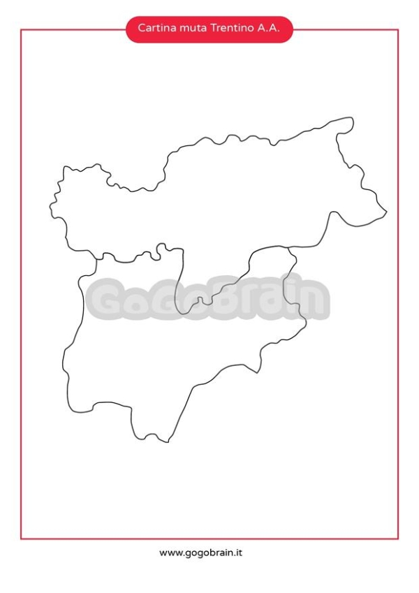 Cartina Muta Del Trentino Alto Adige.Carta Muta Del Trentino Alto Adige Gogobrain